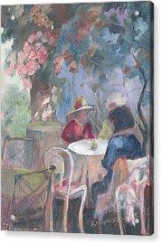 Waiting For Tea Acrylic Print by Susan Richardson