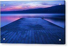 Waiting For The Dawn Acrylic Print by Steven Ainsworth