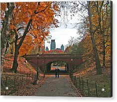 Walk In The Park Acrylic Print by Barbara McDevitt