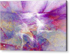 Walk On Water - Abstract Art Acrylic Print by Jaison Cianelli
