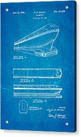 Walker Train Locomotive Patent Art 1945 Blueprint Acrylic Print by Ian Monk