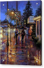Walkin' In The Rain Acrylic Print by Dianna Ponting