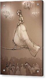 Walking A Fine Line Acrylic Print by H James Hoff