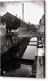 Walking Along The C And O Acrylic Print by Olivier Le Queinec