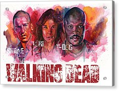Walking Dead Dead Acrylic Print by Ken Meyer jr