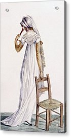 Walking Dress, Illustration Acrylic Print by Pierre de La Mesangere