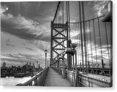 Walking To Philadelphia Acrylic Print by Jennifer Lyon
