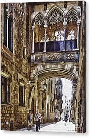 Walking Trhough History Acrylic Print by Pedro L Gili