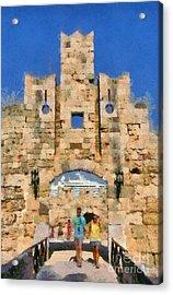 Walking Under The Gate Of Saint Paul Acrylic Print by George Atsametakis