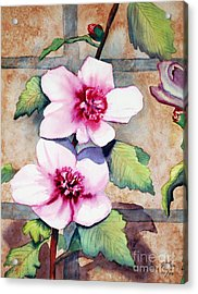 Wall Flowers Acrylic Print by Flamingo Graphix John Ellis