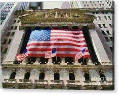 Wall Street Acrylic Print by George Atsametakis