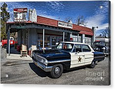 Wallys Service Station Acrylic Print by David Arment