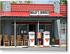 Wally's Service Station Mayberry Nc Acrylic Print by Bob Pardue