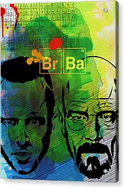 Walter And Jesse Watercolor Acrylic Print by Naxart Studio