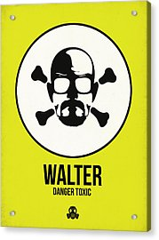 Walter Poster 2 Acrylic Print by Naxart Studio