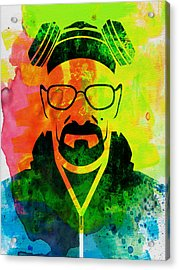 Walter Watercolor Acrylic Print by Naxart Studio
