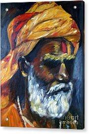 Wandering Sage Acrylic Print by Mukta Gupta