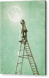 Waning Moon Acrylic Print by Eric Fan