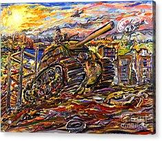 War At Sunset Acrylic Print by Arthur Robins