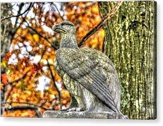 War Eagles - 28th Massachusetts Volunteer Infantry Rose Woods The Wheatfield Fall-a Gettysburg Acrylic Print by Michael Mazaika