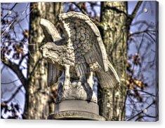 War Eagles - Vermont Company F 1st U. S. Sharpshooters-a1 Pitzer Woods Gettysburg Acrylic Print by Michael Mazaika