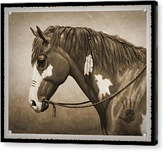 War Horse Old Photo Fx Acrylic Print by Crista Forest