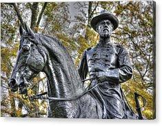 War Horses Maj Gen John F Reynolds Commander 1st-3rd-11th Corps Army Of The Potomac Killed In Action Acrylic Print by Michael Mazaika