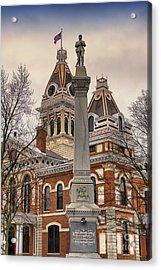 War Memorial Pontiac Il Acrylic Print by Thomas Woolworth