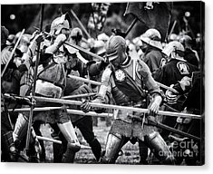 War Of The Roses Medieval Knights  Acrylic Print by Tim Gainey