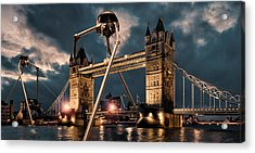War Of The Worlds London Acrylic Print by Peter Chilelli
