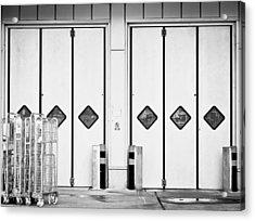 Warehouse Doors Acrylic Print by Tom Gowanlock