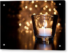 Warm Christmas Glow Acrylic Print by Lisa Knechtel