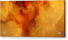 Warm Embrace - Abstract Art Acrylic Print by Jaison Cianelli