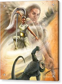 Warrior Acrylic Print by Tamer and Cindy Elsharouni
