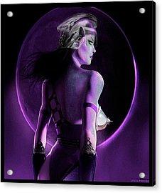 Warrior Goddess Of The Purple Moon Acrylic Print by Renee Reeser Zelnick