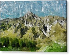 Washed Out Acrylic Print by Ayse Deniz