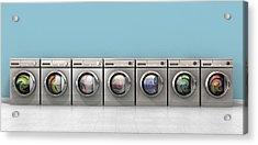 Washing Machine Full Single Acrylic Print by Allan Swart