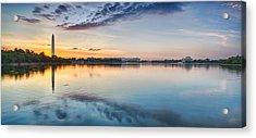 Washington Dc Panorama Acrylic Print by Sebastian Musial