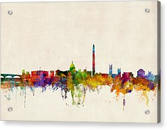 Washington Dc Skyline Acrylic Print by Michael Tompsett