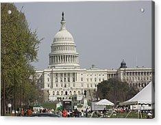 Washington Dc - Us Capitol - 01134 Acrylic Print by DC Photographer