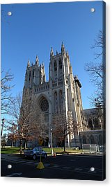 Washington National Cathedral - Washington Dc - 0113115 Acrylic Print by DC Photographer