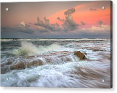 Washington Oaks State Park St. Augustine Fl - The Pastel Sea Acrylic Print by Dave Allen
