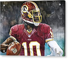 Washington Redskins' Robert Griffin IIi Acrylic Print by Michael  Pattison
