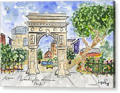 Washington Square Park Acrylic Print by AFineLyne