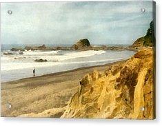 Washington State Seastacks Acrylic Print by Michelle Calkins
