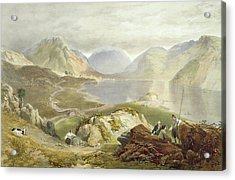 Wast Water, From The English Lake Acrylic Print by James Baker Pyne