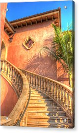 Watch Your Step And Welcome Acrylic Print by Heidi Smith