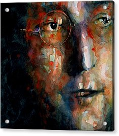 Watching The Wheels Acrylic Print by Paul Lovering