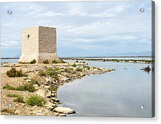 Watchtower In The Salt Lakes Acrylic Print by Tetyana Kokhanets