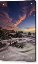 Water And Fire Acrylic Print by Rick Berk